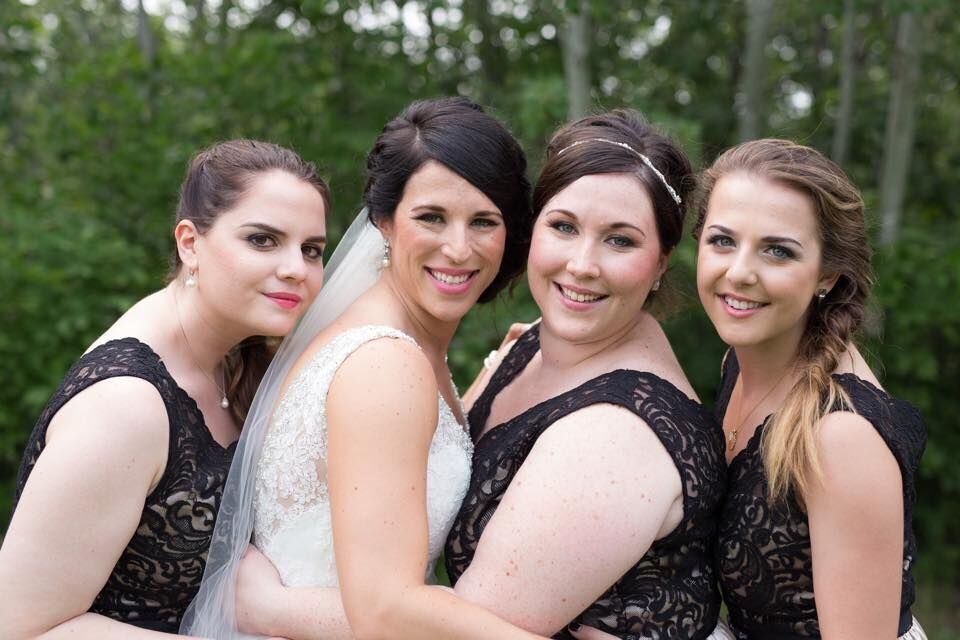 Nicole & Bridesmaids / Makeup by Karla